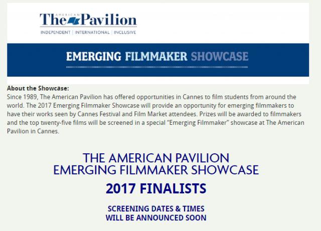 The American Pavilion Emerging Filmmaker Showcase