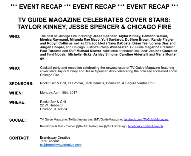 Chicago Fire Event