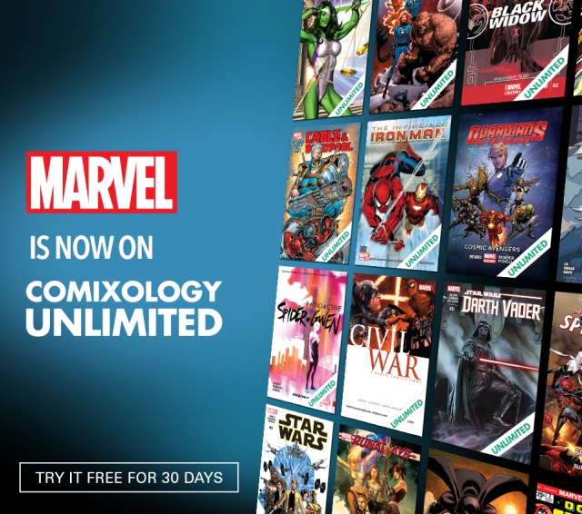 Marvel Comics Comixology Amazon Kindle launch